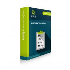 Pracovní výkaz UNiQ (systém pro kontrolu zaměstnanců)